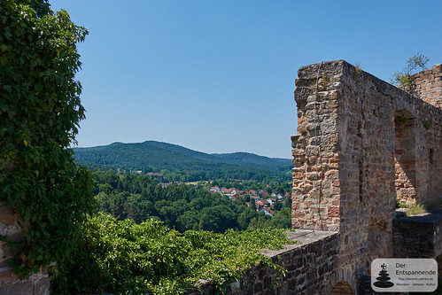 Ausblick von Burg-Jugendherberge Altleiningen