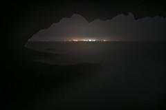 Rainy Night in the Ocean Cave (Randall Howlett) Tags: longexposure ocean cave night d500 nikon atlanticocean caves nikon1680 rain theovenspark waves riverport novascotia canada ca