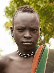 Mursi Boy (Rod Waddington) Tags: africa african afrique afrika äthiopien ethiopia ethiopian ethnic etiopia ethnicity ethiopie etiopian omo omovalley outdoor omoriver mursi tribe tribal traditional portrait people mago culture cultural boy beads