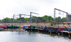 St Pancras Basin - II (Derek John Lee) Tags: london regentscanal canal railway stpancras