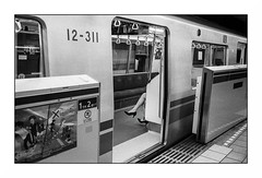 Tokyo - underground (Punkrocker*) Tags: leica m7 summicron asph 35mm 352 film kodak trix pushed 800 nb bwfp street city people metro underground tokyo japan japon nihon travel