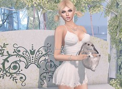 #207 If you reached out for me (Violet Batriani | Blogger | Model) Tags: secondlife sl blog fashion lace dress white pure beautiful blueberry bunny daisy pigtails nature bento catya maitreya gacha rare