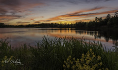 sunset on the water by Alec_Hickman - a lake in Atlantic Canada at dusk