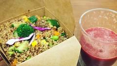 藜麥沙拉&紅菜頭橙汁@Tree