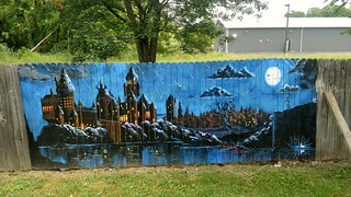 Hogwarts Mural On A Fence!  (Explored -- Thanks Flickr!!)