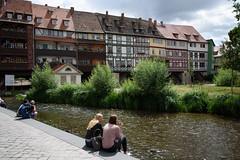 An der schönen blauen Gera (grapfapan) Tags: city summer street tourist postcard krämerbrücke erfurt germany thüringen