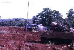 2Lt Ray Shillabeer - Vietnam Deployment, 1971 (Teutonic01) Tags: 3rar southvietnam m113 armoured cavalry apc armouredpersonnelcarrier raaf royalaustralianairforce uh1 iroquois huey helicopter