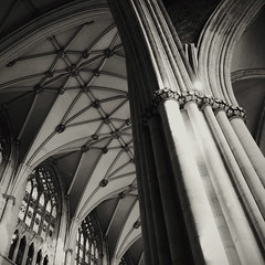 North Nave, York Minster (chinese johnny) Tags: york england uk greatbritain 2013 iphone iphoneonly instagram iphone5c squareformat square bw blackandwhite monochrome moody melancholy winter streetphotography documentaryphotography documentary ambient reallifenotposed oldeurope vscocam vsco m flickrunitedaward