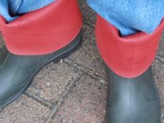 DUNLOP      Purofort   D        do groen  112 (stevelman14) Tags: dunlop purofort donkergroenrood laarzen diepeomslag schoon poseren outdoor