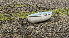 Boat on the Fremington Shore (stevedewey2000) Tags: devon fremingtonquay tamron150600 boat rowingboat beach pebbles 169