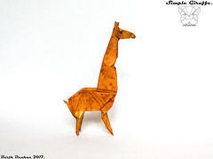 Simple Giraffe - Barth Dunkan (Magic Fingaz) Tags: barthdunkan girafe giraffe jerapah jirafa origami žirafa καμηλοπάρδαλη жираф жирафа जिराफ़ ยีราฟ 기린 キリン 长颈鹿