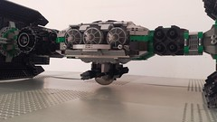 Jabba the Hutt's TIE Fighter - Front close (Evilkirk) Tags: starwars lego jabba hutt tie fighter moc