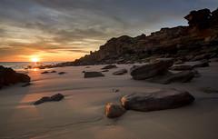 Last Glow (--Welby--) Tags: broome wa western australia sunset coastr sea ocean rock stone light glow