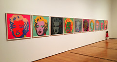 Daddy, take my picture with Marilyn. (davidwilliamreed) Tags: andywarhol pictures prints art vividcolor littlegirl highmuseumofart atlantaga fultoncounty