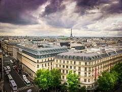 Paris skyline (einaz80) Tags: paris parigi skyline panorama galerie lafayette rooftop terrazzo tour eiffel