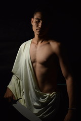 DSC_1323 (Angelica_Araujo) Tags: david caravaggio claroscuro contrast photoremake man body