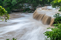 After the rains (tquist24) Tags: cataractfalls indiana millcreek nikon nikond5300 outdoor geotagged longexposure nature river tree trees water waterfall spencer unitedstates uppercataractfalls