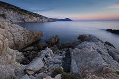 Rough rocks, calm sea (tom.leuzi) Tags: canonef1635mmf4lisusm canoneos6d meer natur sonnenuntergang dusk landscape nature sea sunset wideangle uwa corsica korsika corse mittelmeer mediterranian