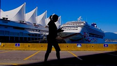 Canada Place Vancouver (Steve Burgess1) Tags: vancouver canadaplace fivesails cruiseship cruiseships ship silhouette