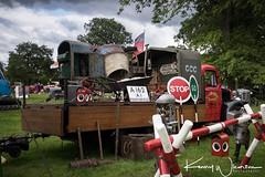 205 YUV Bedford M 1949 (Kenny Wharton) Tags: 1949 205yuv bedford bedfordlorry bedfordm canon1635f4lisusm canon5div countryfair newbyhall newbyhalltractorfest2017 lorry red roadworks sign transportimages truck vehicle vintage england unitedkingdom gb
