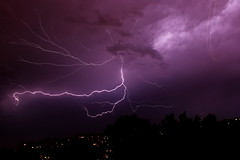 Weatherreport (djlerry-von Kolossy) Tags: storm óbuda thunder lightning budapest thunderstorm weather rain meteorology kaszásdűlő photobomb airplane