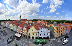 Trebon (tomas.jezek) Tags: trebon cityhall oldtown red rooftops square city ponds