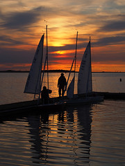 Sunset silhouette (Colin Millington) Tags: dee sunset west kirby tamron 14 150 olympus em 10 mark 2