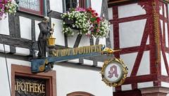 Seligenstadt Apotheke (wernerfunk) Tags: hessen fachwerk ironsign sign