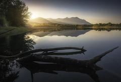 Digue de Peri (C☺rsica) (Mathulak) Tags: diguedeperi digue peri corsica corse mathulak reflection réflexion mountain montagne d750 bw110 sunset light
