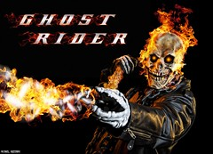 He Brought The Devil With Him... (Ring of Fire Hot Sauce 1) Tags: cosplay ghostrider robbiereyes shawnrichter wondercon flames skull