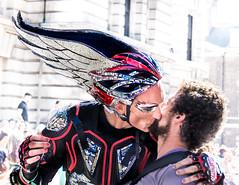 On The Wings of Love (DobingDesign) Tags: london londonstreets lgbt londonpride pridelondon prideinlondon gaypride2017 costume wings sequin helmet love lips embrace kiss
