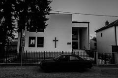 Seventh-day Adventist Church (Armin Šaković) Tags: church adventist religion street monochrome banja luka bosnia herzegovina city town black white