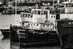 Vessels in River (PAJ880) Tags: powell gaspee tug chelsea river east boston ma bw mono jw