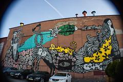 Rogerio Fernandes Mural (ellyoracle77) Tags: minsk belarus octoberstreet renamed artisan industry mural graffiti streetart hipsters rogeriofernandes vangogh fridakahlo brazilian