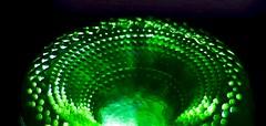 One Green Bottle......Standing upside down. (Iaingd65) Tags: macromondays bottomsup greenbottle glass