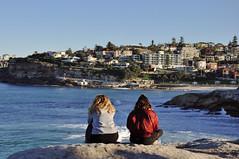 watching the surf (marin.tomic) Tags: australia australien oz downunder city urban beach ocean bondi coogee tamarama travel nikon d90 surfer surfing newsouthwales