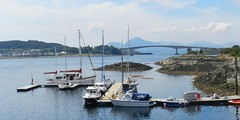 The Island of Skye from Kyle of Lochalsh, May 2017 (allanmaciver) Tags: ske kyle lochalsh island view red black cuillin mountains yachts marina water may kyleakin bridge weather warm enjoy memories allanmaciver