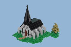 Village Chapel (pasukaru76) Tags: canon100mm lego castle church chapel diorama microscale summerjoust2017 moc