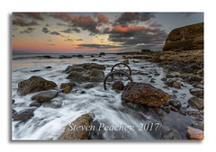 Wheel Surge (Steven Peachey) Tags: sunset seascape beach sea sky clouds seaham seahamwheels canon ef1740mmf4l canon6d lee09gnd water rocks exposure explored explore