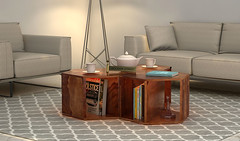 Wood Table : fetch tables beautiful range at Wooden Street (woodenstreet) Tags: table tables woodentables woodtable tablefurniture buytableonline smalltable