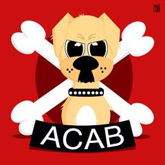 Libera interpretazione 🐶🐱👮 (Yele Maria) Tags: yele yelemaria acab allcatsarebastards allcopsarebastards illustrazionedigitale illustrazione vector vectorillustration leffe leffeblonde dog mydog