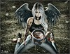 Eating my feelings away (MissZafire) Tags: wings broken sorrow angel cry crying sadness sad sl secondlife avatar girl sweet cute rain tears