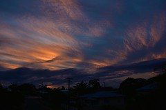 Queensland Sunset (Images by Jeff - from the sea) Tags: sunset clouds bluesky orangesunset palmtrees powerlines powerpoles landscape nikon d7200 tamronsp2470mmf28divcusd twilight dusk