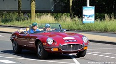 Jaguar E-type V12 5.3L Series 3 roadster 1973 (XBXG) Tags: llvd95 jaguar etype v12 53l series 3 roadster 1973 jaguaretype xke cabriolet cabrio convertible red rood rouge nierstichting rally 2017 oudeweg waarderpolder haarlem nederland holland netherlands paysbas vintage old classic british car auto automobile voiture ancienne anglaise brits uk vehicle outdoor