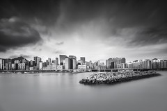 East Kowloon ([~Bryan~]) Tags: daytimelongexposure hongkong ndfilter city urban cityscape bw blackandwhite urbanlandscape kowloon longexposure timelesscity bryanleung time