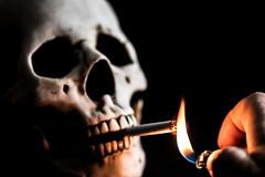 Give Me a Light, Bro (Lightcrafter Artistry) Tags: smoke smoker smoking smoked cigarette lighter skull conceptual