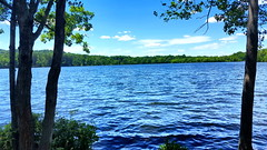 Franklin Lakes Nature Preserve (SurFeRGiRL30) Tags: lake franklinlakesnaturepreserve franklinlakesnj nj newjersey beautiful nature blue blueskies green mountain trees ripples reservoir water summertime summer 2017 sun sunlight sunshine day afternoon