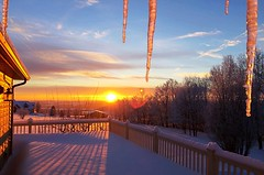 Winter Sunrise in The Finger Lakes (8harpem) Tags: winter sunrise icicles landscape finger lakes nature snow dawn