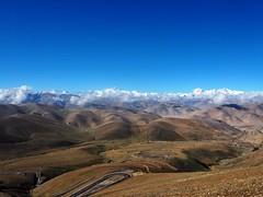Zigzag road up the Kampa La Pass (MintyTG) Tags: tibet himalayanrange