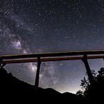Pine Valley Creek Bridge and the Milky Way thumbnail